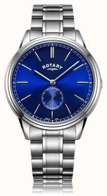 Rotary Reloj de pulsera de acero inoxidable compensado para hombre windsor GB05360/05