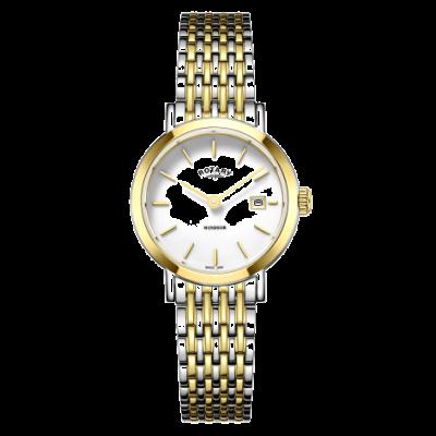 Rotary Reloj de pulsera de oro y plata bicolor de windsor para mujer. LB05302/01