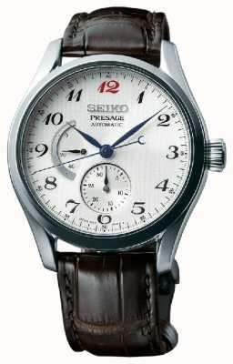 Seiko Presage mens automatic power reserve display watch SPB059J1