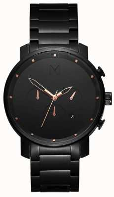 MVMT Mens chrono 45mm rosa negra MC01-BBRG