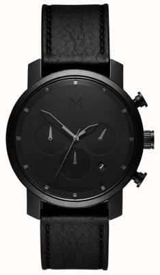MVMT Mens chrono 40mm cuero negro MC02-BLBL