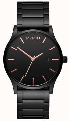 MVMT Hombres negro clásico rosa MM01-BBRG