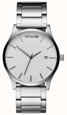 MVMT Hombres clásicos de plata blanca L213.1B.131