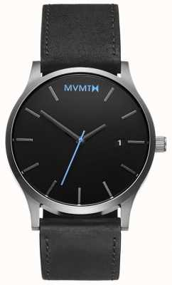 MVMT Hombres clásicos de plata negra MM01-BSL