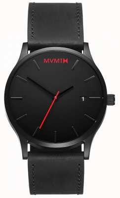 MVMT Cuero clásico negro | correa negra | esfera negra D-L213.5L.551
