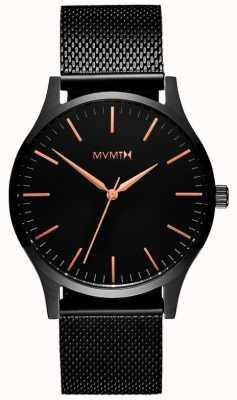 MVMT Serie 40 rosa negra | malla de pvd negro | esfera negra D-MT01-BBRG