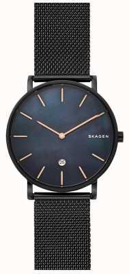 Skagen Reloj hagen para hombre con esfera de malla de acero negro azul SKW6472
