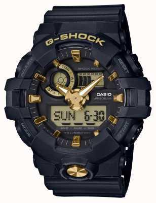Casio Reloj digital analógico G-shock de caucho dorado. GA-710B-1A9ER