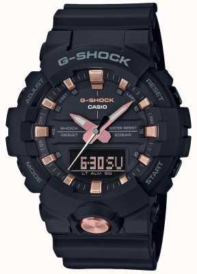 Casio G-shock analógico digital multifunción negro mate oro rosa GA-810B-1A4ER