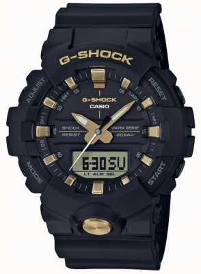 Casio G-shock analógico digital multifunción mate negro oro GA-810B-1A9ER