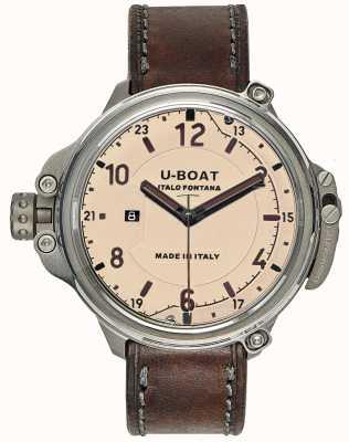U-Boat Cápsula para hombre 50 edición limitada de color beige 7470