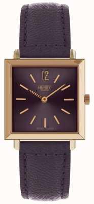 Henry London Reloj cuadrado petite Heritage para mujer HL26-QS-0260