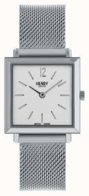 Henry London Reloj cuadrado petite Heritage para mujer cuadrado plateado HL26-QM-0265