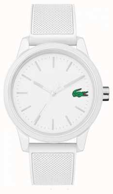 Lacoste 12.12 reloj de goma blanca 2010984