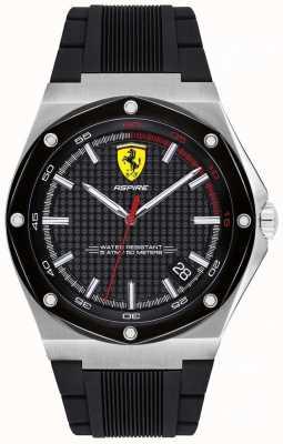 Scuderia Ferrari Hombres aspiran correa de goma negro fecha de visualización 0830529