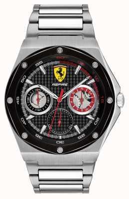 Scuderia Ferrari Pantalla de fecha de marcado de acero inoxidable de aspire para hombre 0830535