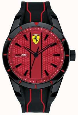 Scuderia Ferrari Hombres redrev rojo marcar correa de caucho negro 0830540