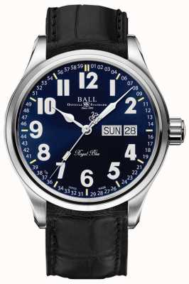 Ball Watch Company Pantalla de fecha y día azul real Trainmaster NM1058D-LL9J-BE