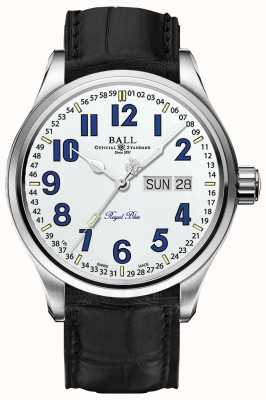 Ball Watch Company Pantalla blanca y azul de Trainmaster Royal White Dial NM1058D-LL9J-WH