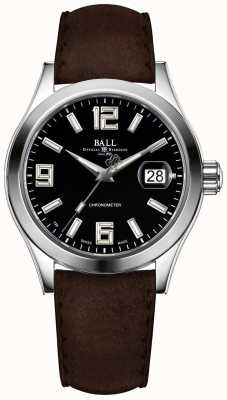 Ball Watch Company Engineer ii pioneer black dial correa de cuero marrón NM2026C-L4CAJ-BK