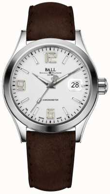 Ball Watch Company Correa de cuero marrón plata pionera Engineer ii NM2026C-L4CAJ-SL