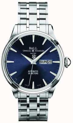 Ball Watch Company Diagrama azul de Trainmaster eternity visualización automática de día y fecha NM2080D-SJ-BE