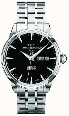 Ball Watch Company Trainmaster eternity black dial display automático de día y fecha NM2080D-SJ-BK