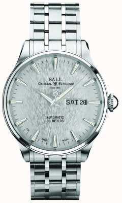 Ball Watch Company Trainmaster eternity plateado indicador automático de fecha de día NM2080D-SJ-SL