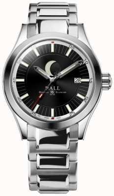 Ball Watch Company Pulsera de acero inoxidable de la indicación de la fase de la luna del ingeniero ii NM2282C-SJ-BK