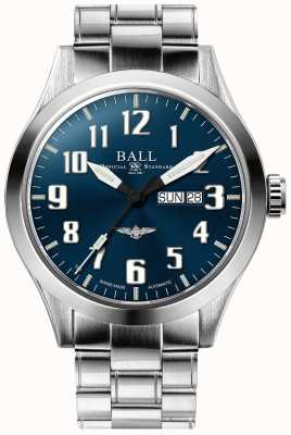 Ball Watch Company Ingeniero iii plata estrella azul esfera día y fecha de visualización NM2180C-S2J-BE