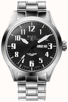 Ball Watch Company Ingeniero iii plateado negro esfera día y fecha de visualización NM2180C-S3J-BK