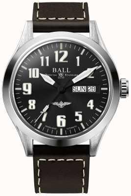 Ball Watch Company Engineer iii correa de cuero marrón plateado azul esfera NM2182C-L2J-BE