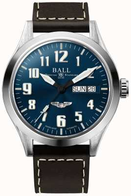 Ball Watch Company Engineer iii correa de cuero marrón plateado azul esfera NM2182C-L3J-BE