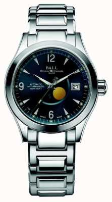 Ball Watch Company Visualización automática de la fecha del dial azul de la fase de la luna de Ohio NM2082C-SJ-BE