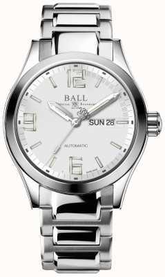 Ball Watch Company Ingeniero iii leyenda esfera blanca día y fecha de visualización NM2028C-S14A-SLGR