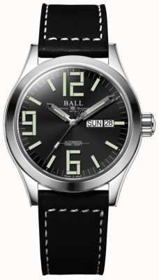 Ball Watch Company Correa de piel Engineer ii genesis esfera negra dia y fecha NM2026C-LBK7-BK