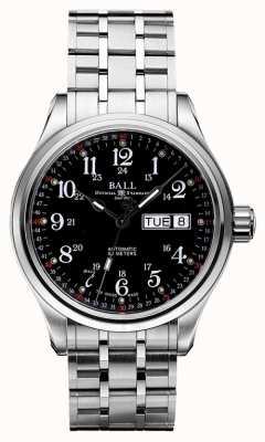 Ball Watch Company Compañía, 60 segundos, esfera negra, fecha del día y fecha NM1058D-S3J-BK