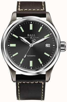 Ball Watch Company Pantalla de fecha de marcación automática en negro Trainmaster titanio NM1038D-L5J-BK
