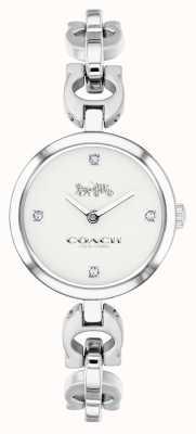 Coach Reloj de cadena de acero inoxidable para mujer 14503077