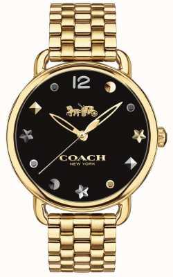Coach Pulsera dorada para mujer delancey watch 14502813