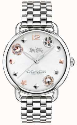 Coach Delancey para mujer reloj marcadores de flores pulsera de acero 14502810