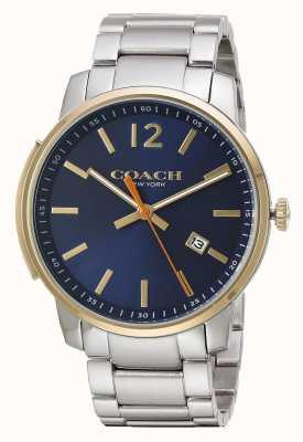Coach Esfera azul fina para hombre Bleecker 14602342