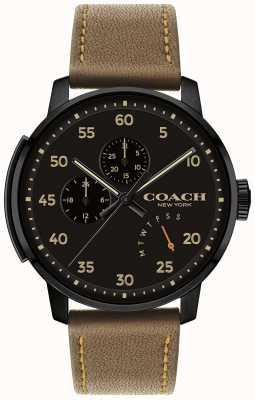 Coach Reloj bleecker para hombre con multifunción esfera negra 14602339
