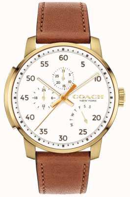Coach Reloj para hombre bleecker multifunción esfera blanca 14602340