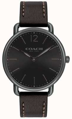 Coach Reloj delancey para hombre slim watch black dial blackleather strap 14602346
