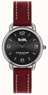 Coach Reloj de mujer delgada delancey correa de cuero rojo 14502792