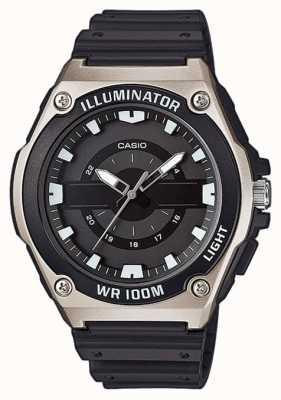 Casio Reloj iluminador de resina negra para hombre MWC-100H-1AVEF