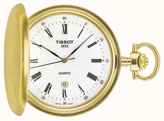 Tissot Reloj de bolsillo savonette chapado en oro hecho en Suiza T83455313