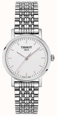 Tissot Para mujer todo el acero inoxidable pulsera de plata esfera T1092101103100