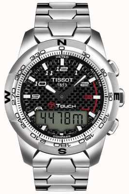 Tissot Cronógrafo de alarma de titanio t-touch ii para hombre T0474204420700